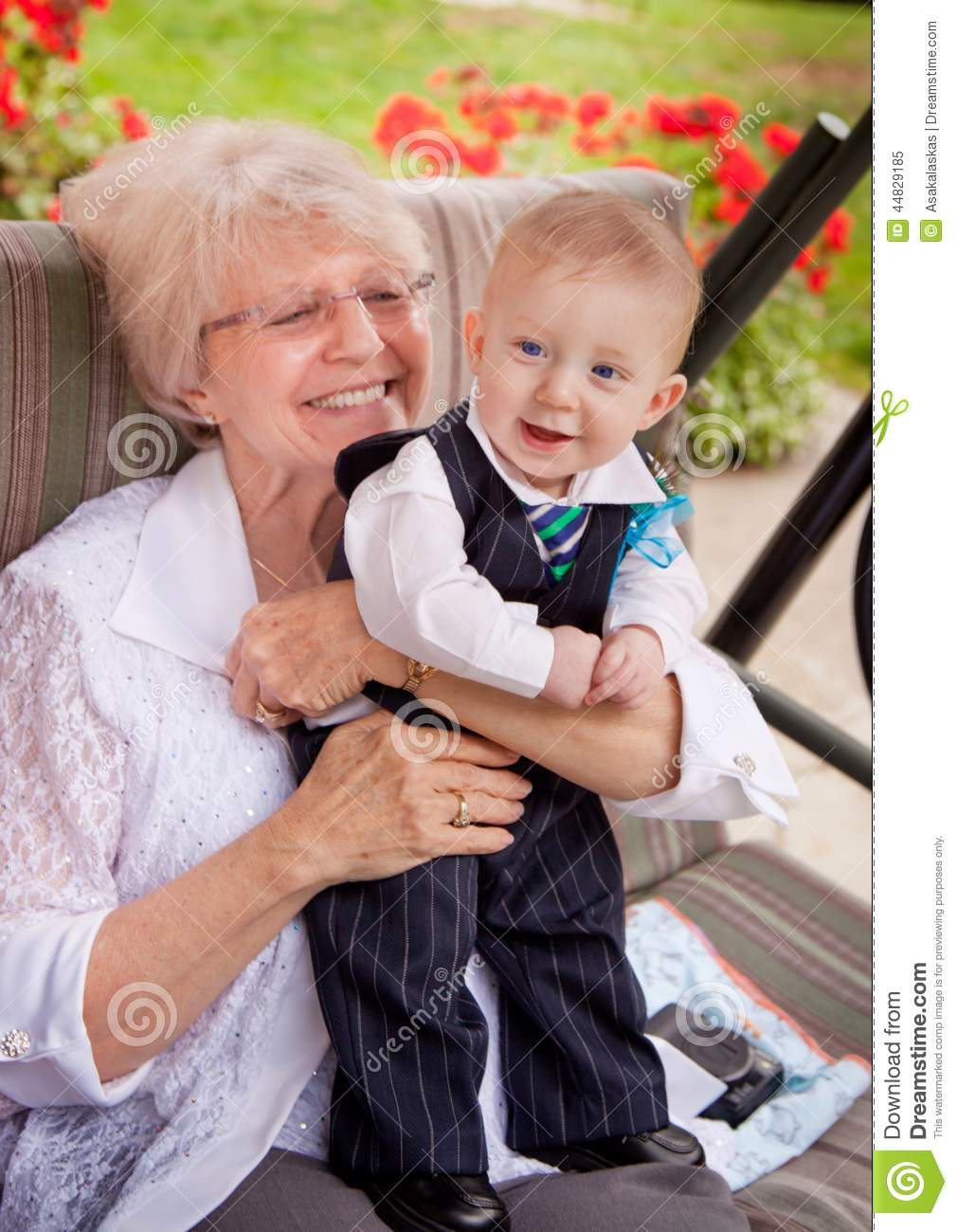 grandma with grandson stock image image of blond holding 44829185