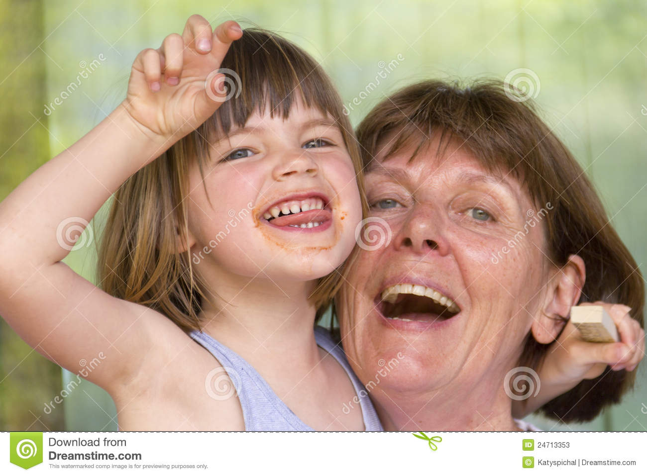 Grandma With Her Granddaughter Stock Photos - Image: 24713353