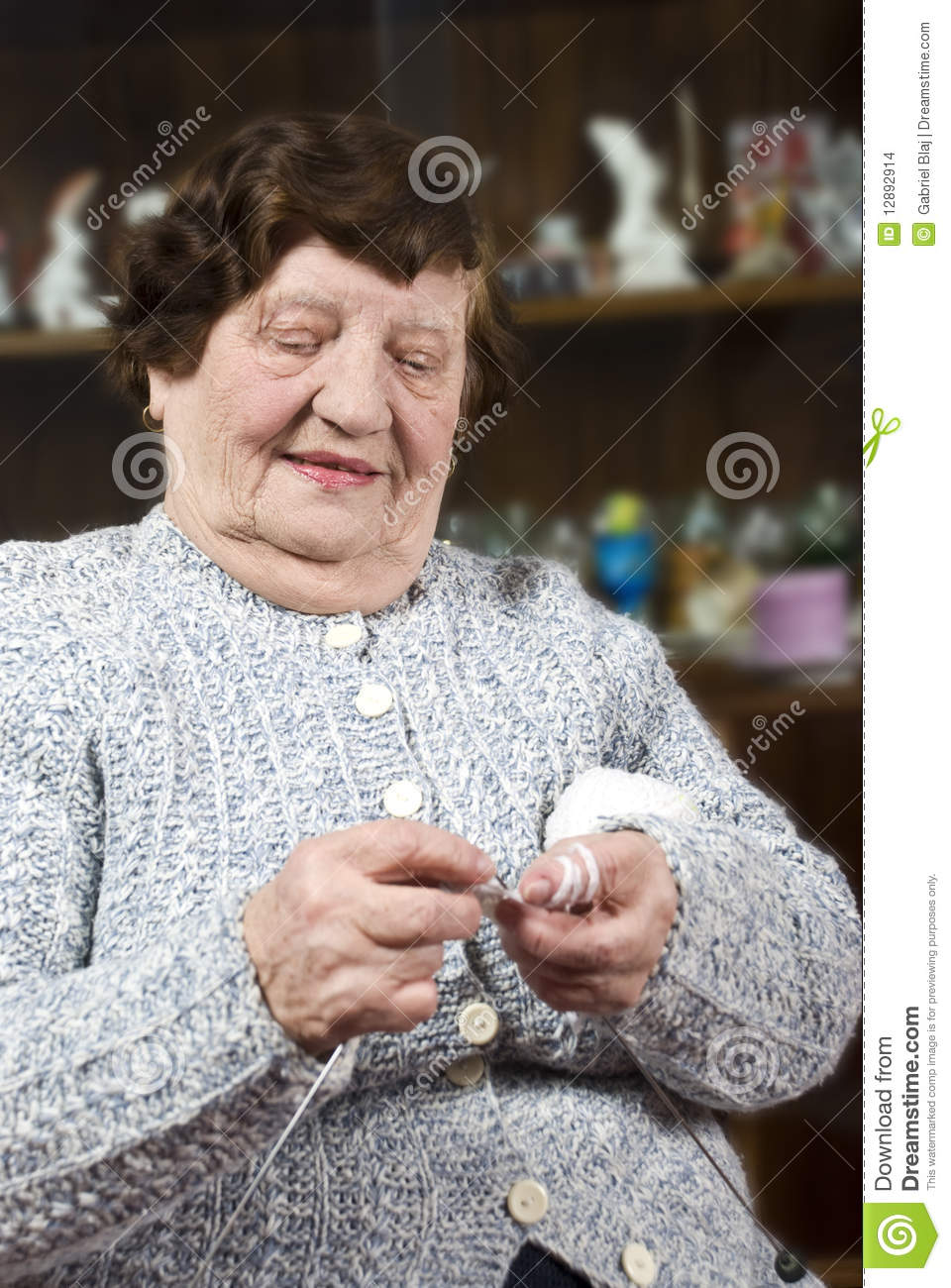 Grandma Knitting Spaghetti : Grandma knitting stock images image