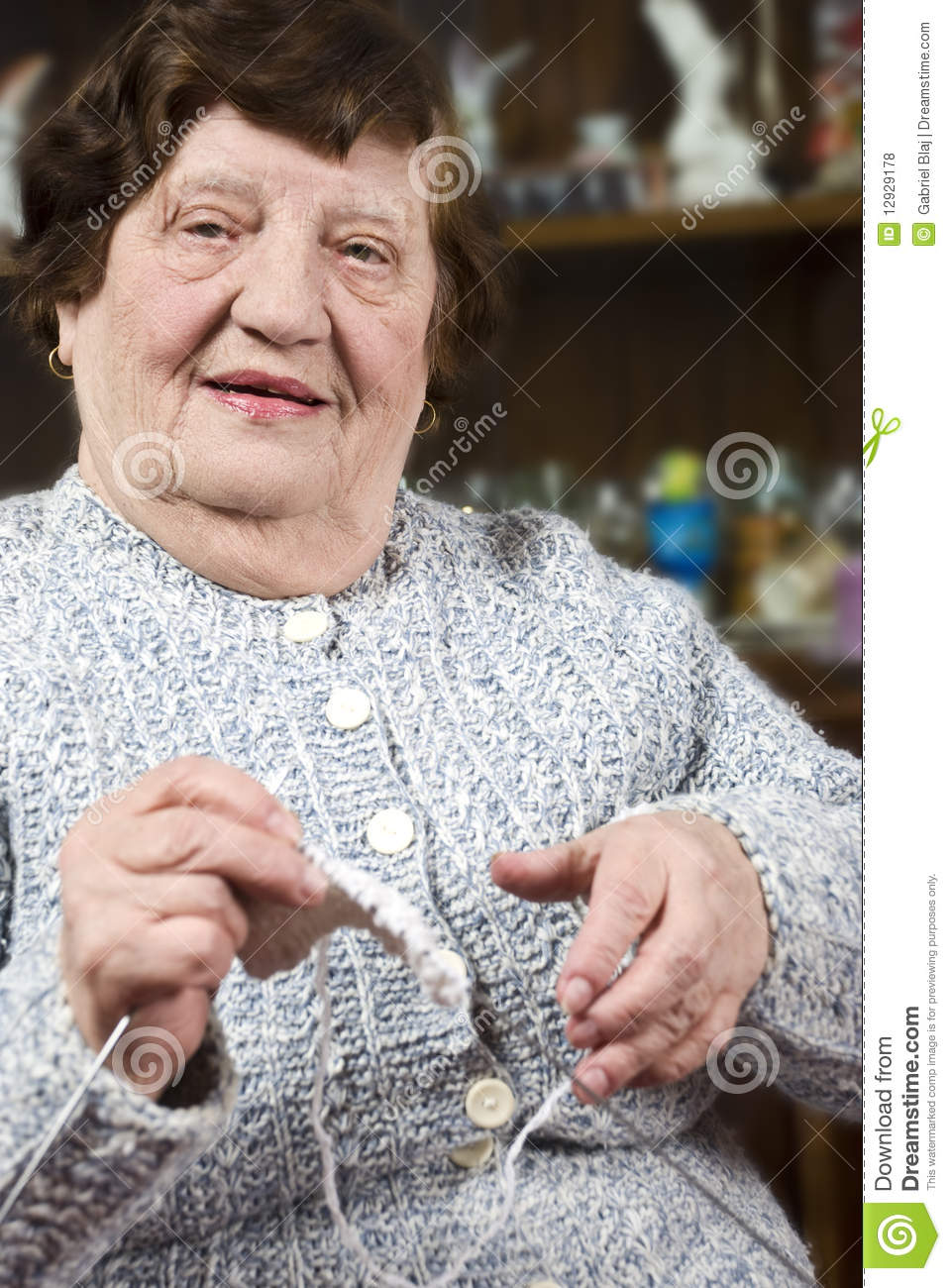 Grandma Knitting Spaghetti : Grandma knitting stock photo image of friendly happiness