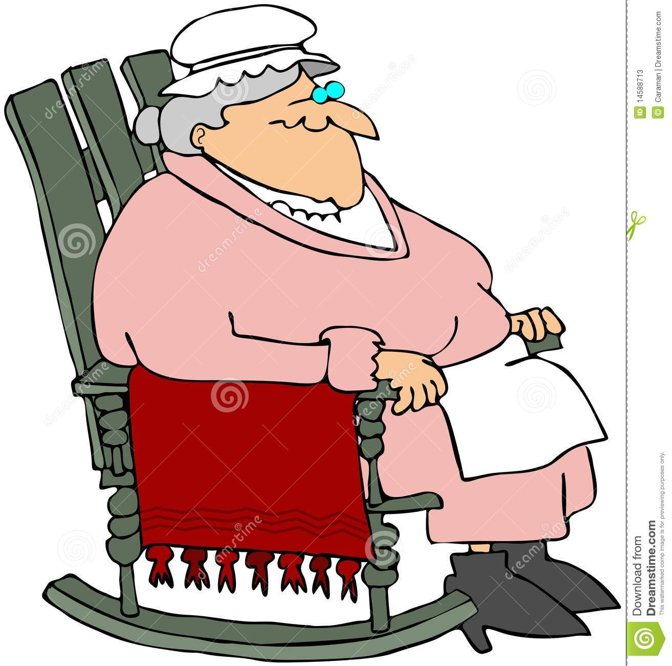 Grandma In A Rocking Chair Stock Illustration Image Of