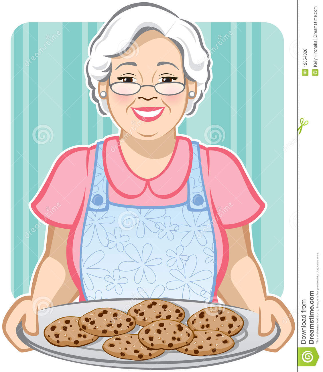 ... of a Grandmother with a platter of chocolate chip cookies