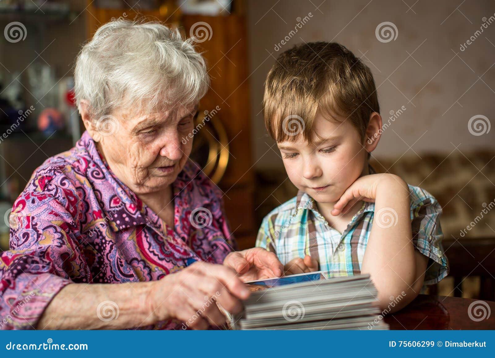 grandma grandson stock photos royalty free images