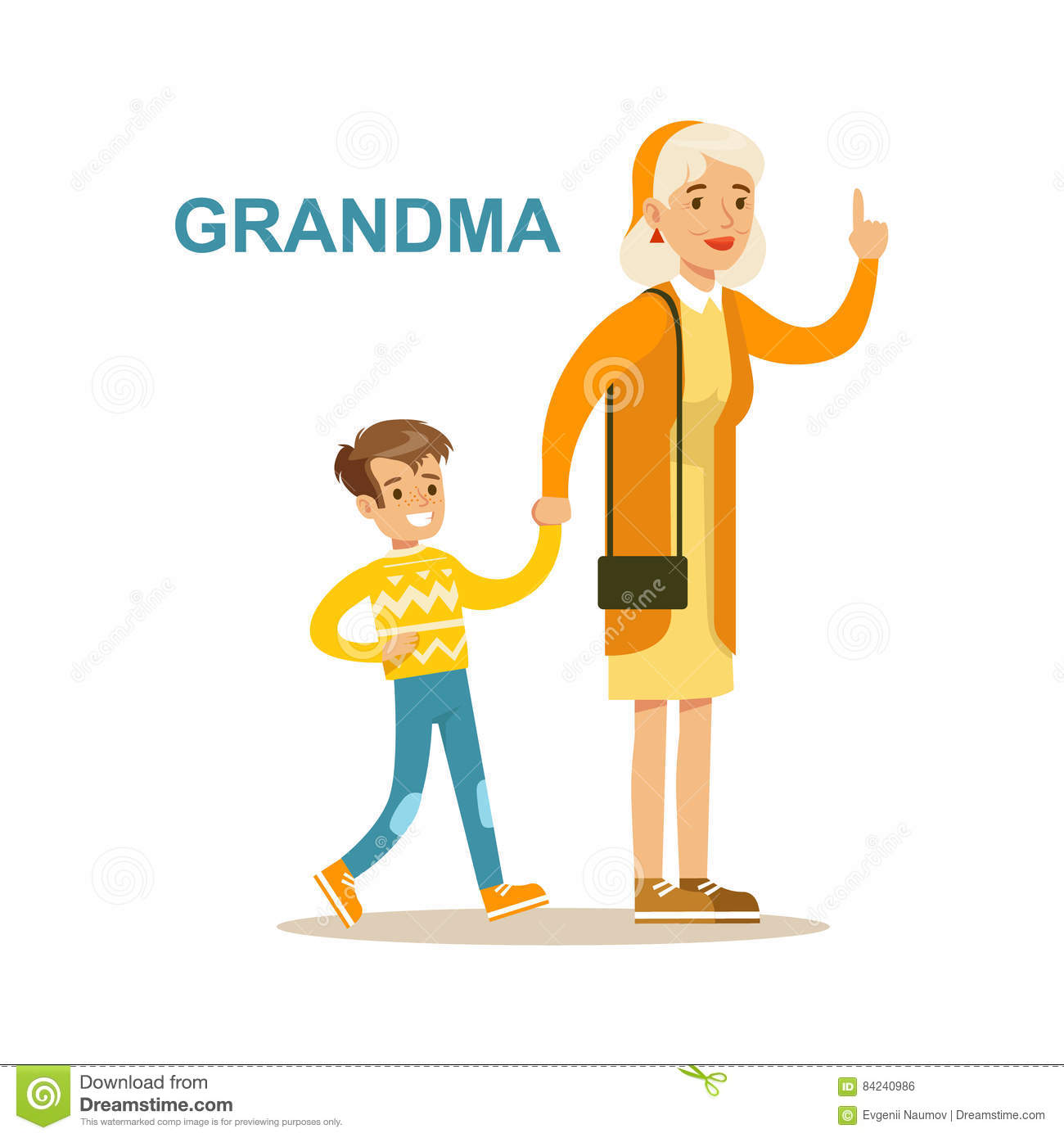 Family Playing Together Clipart Granny Cartoons, Illus...