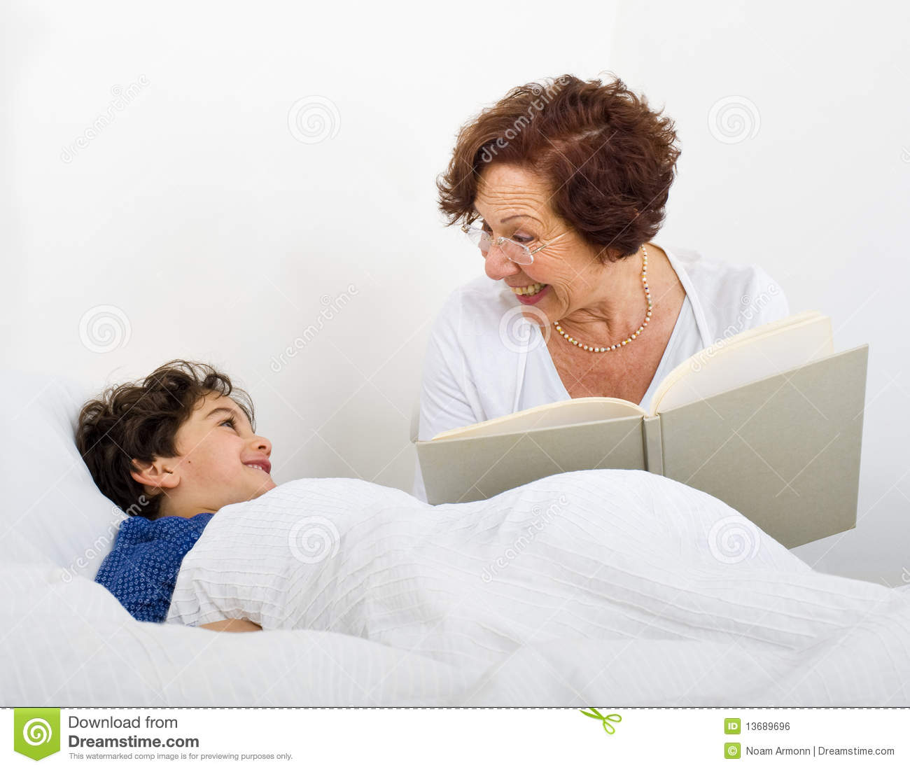Grandmother bed time story stock photo image of childhood for Bed stories online