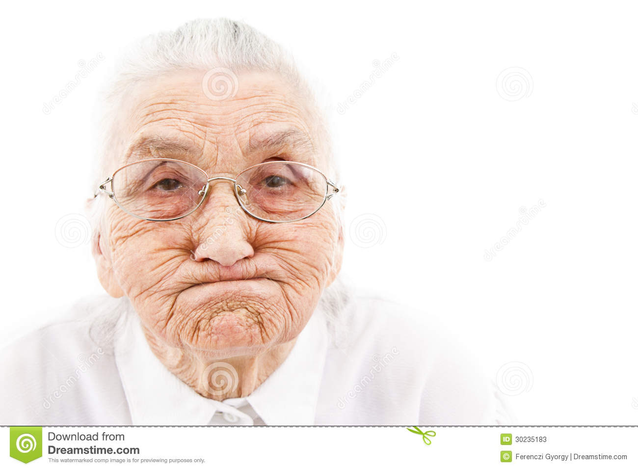 Stock illustrations senior citizen lady with a sign stock clipart - Funny Grandma Stock Photos Image 30235183