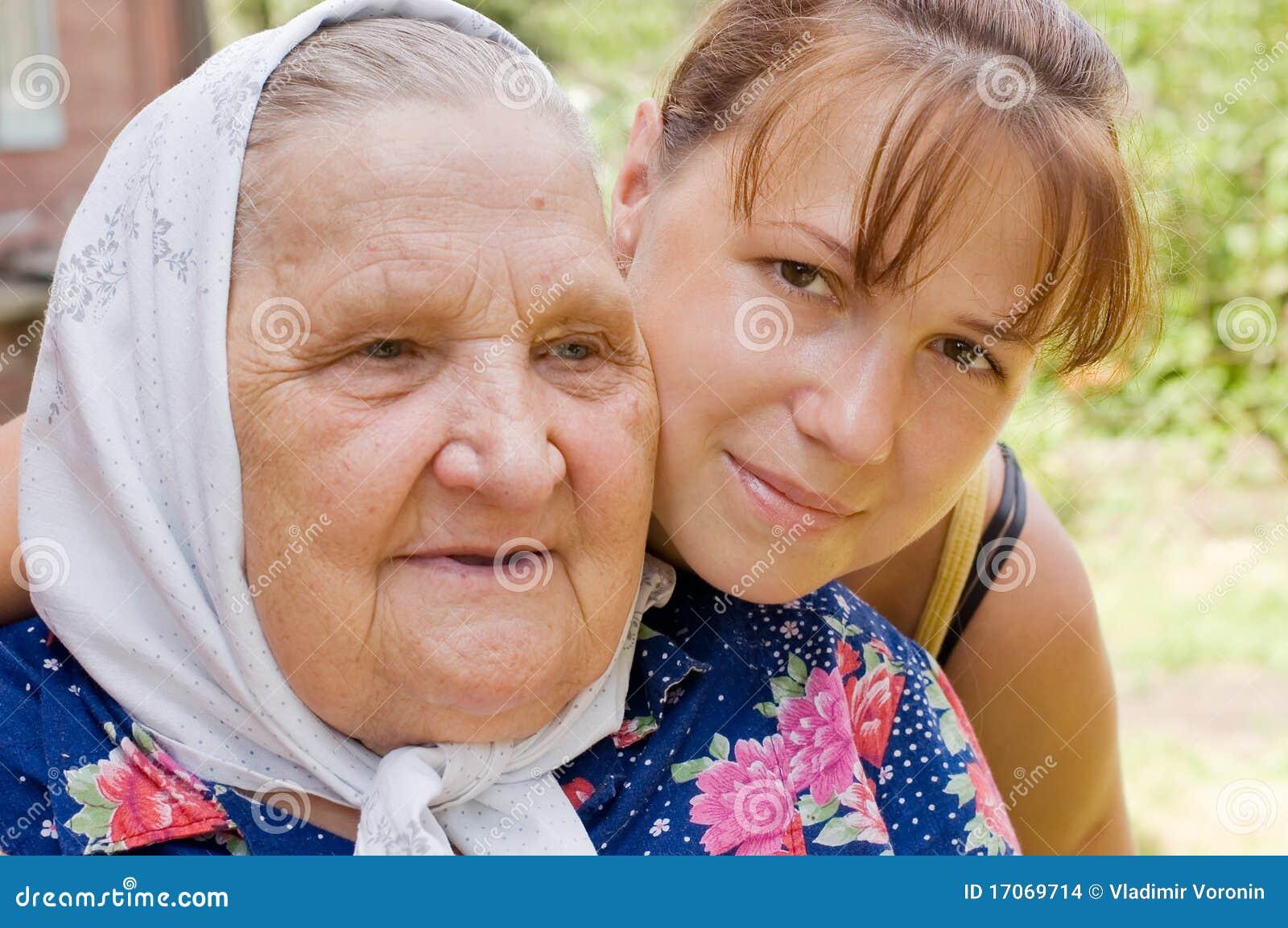 Бабушка с членом просто ничего