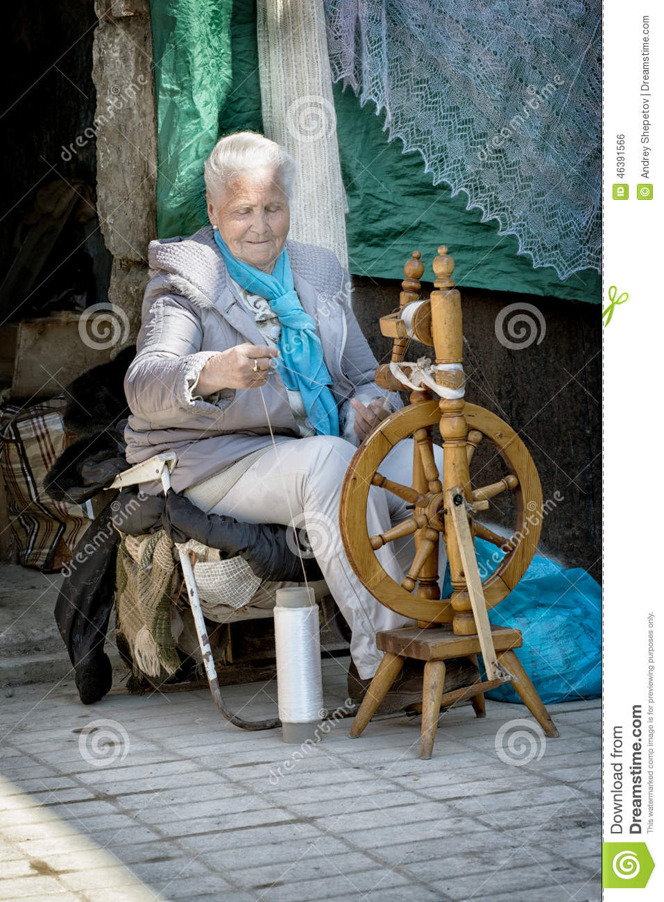 Grandmother Of The Spinning Wheel Editorial Photo Image Of Drive Drawing 46391566