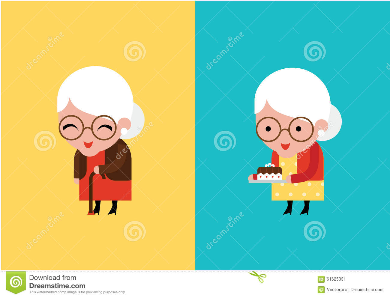 Grandmother vector illustration stock vector image 61625331 for Immagini vector