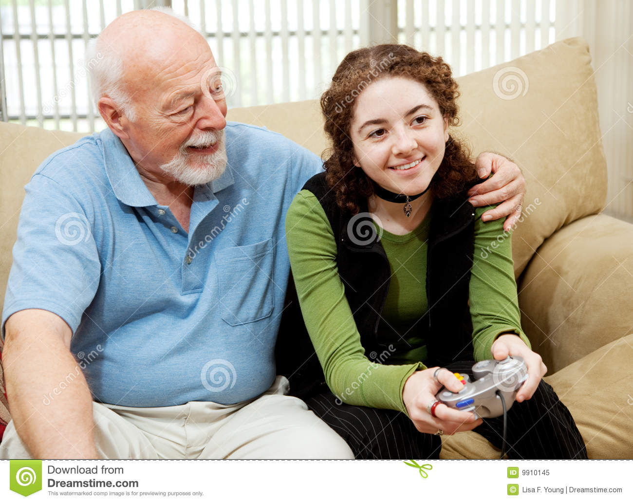 Grandpa Bonds With Teen Royalty Free Stock Photo - Image -6912