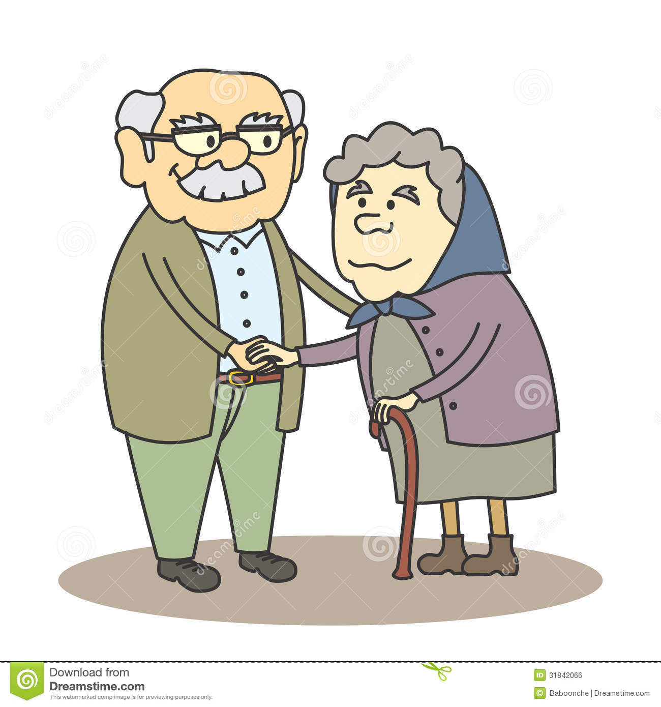 ... Cartoon grandpa grandma stock illustrations, vectors, & clipart