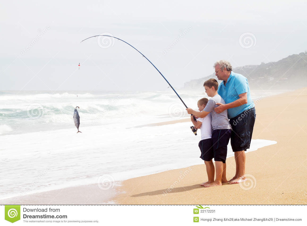 Grandpa grandsons fishing stock image image 22172231 for Idaho out of state fishing license