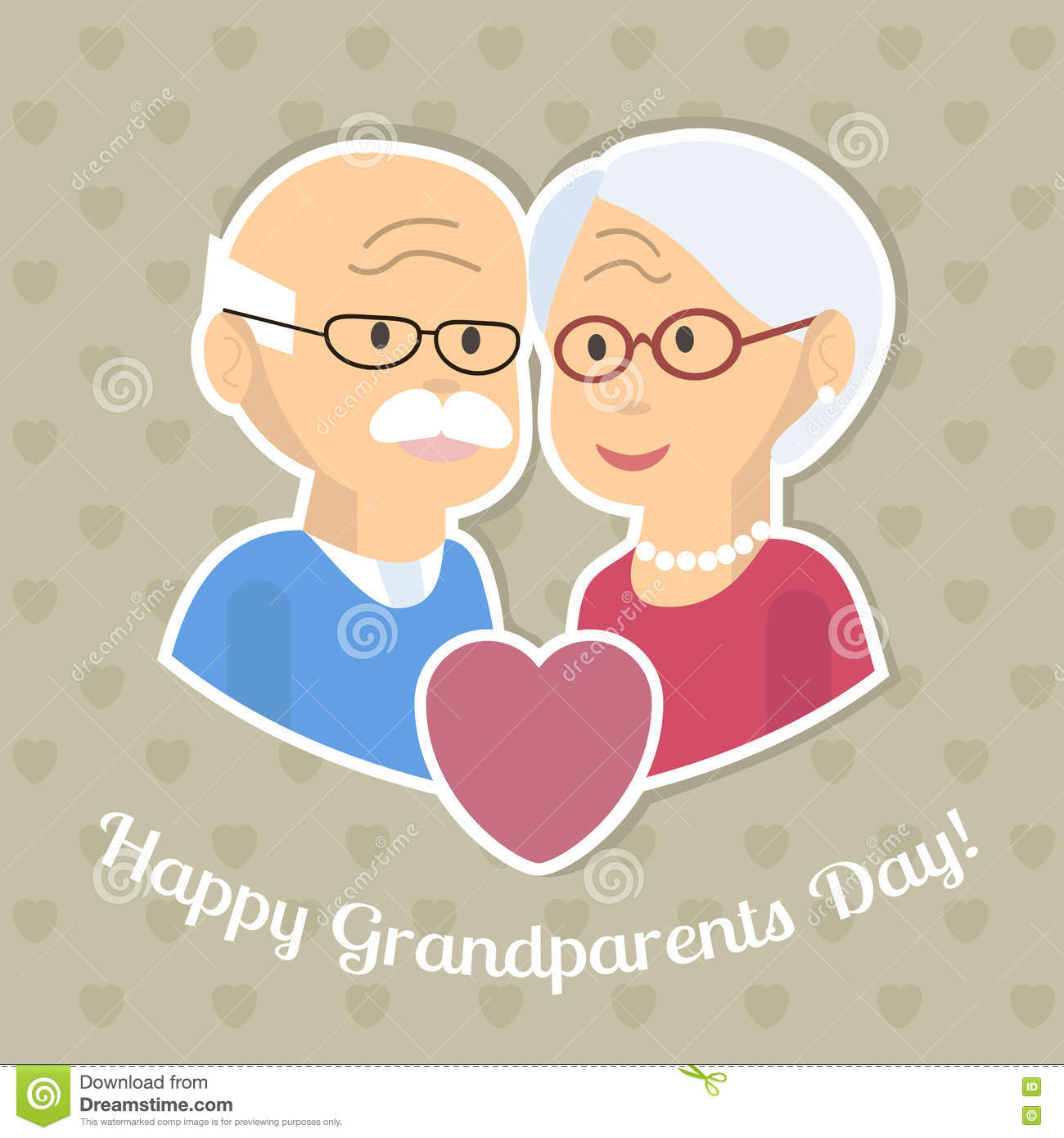 Grandparents day card stock vector illustration of illustration grandparents day card kristyandbryce Gallery