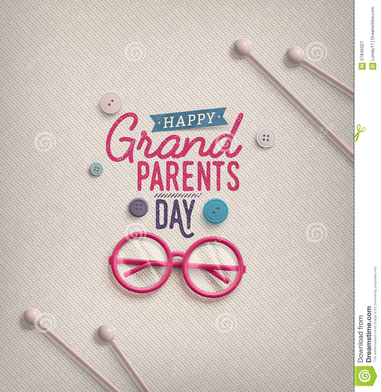 Grandparents Day Greeting Card Eps 10