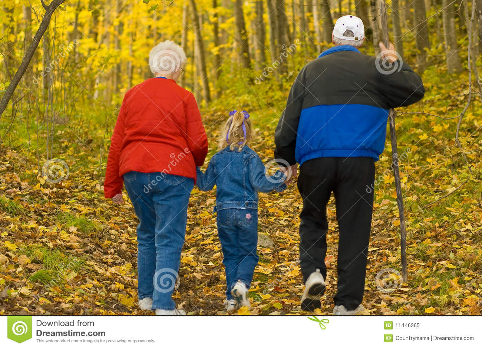 Grandparents and granddaughter.