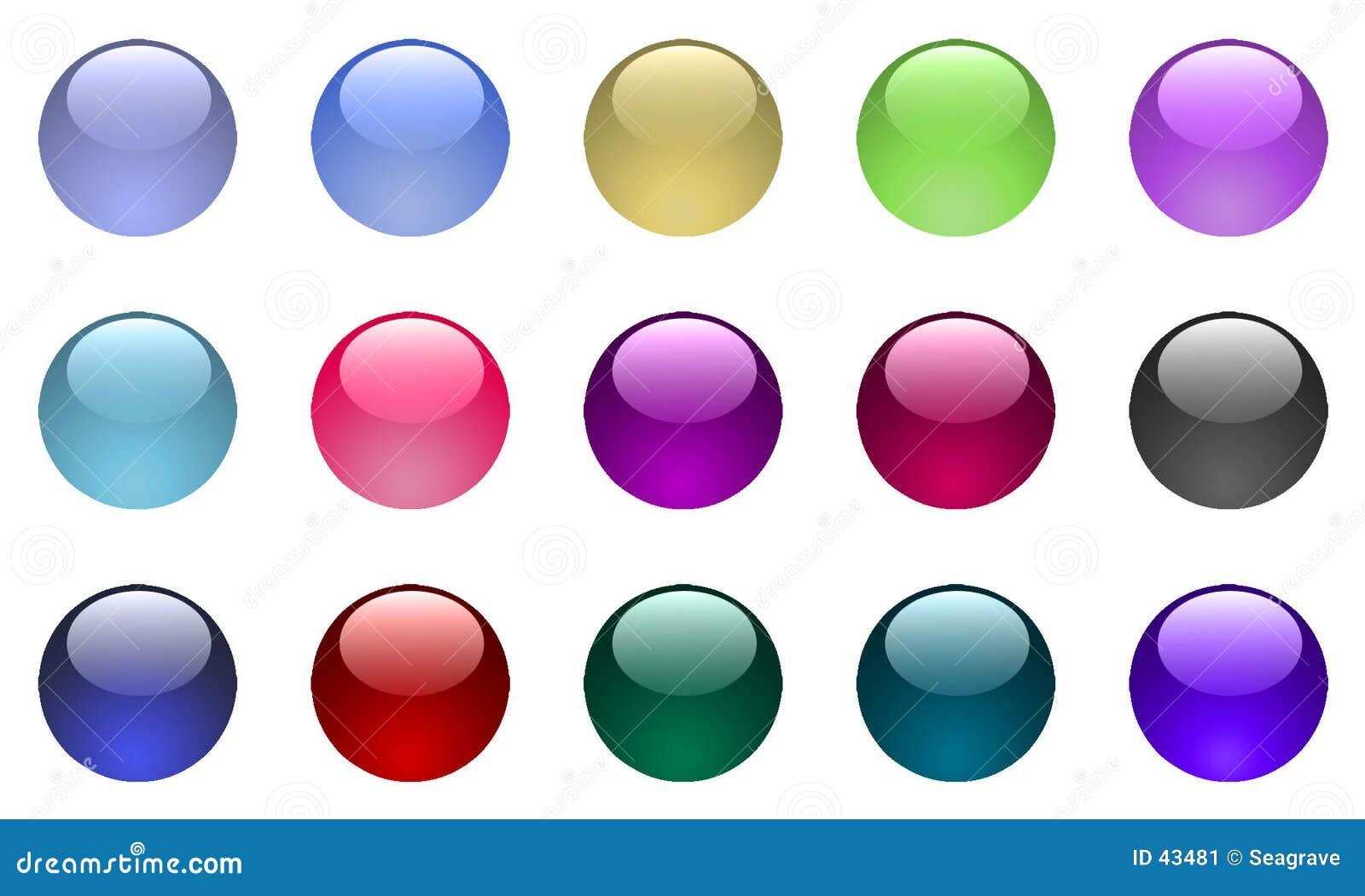 Grands boutons en verre
