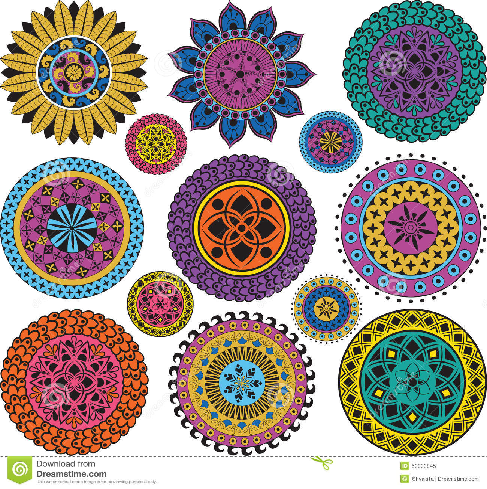 Grands et petits mandalas r gl s illustration de vecteur image 53903845 - Grand mandala ...