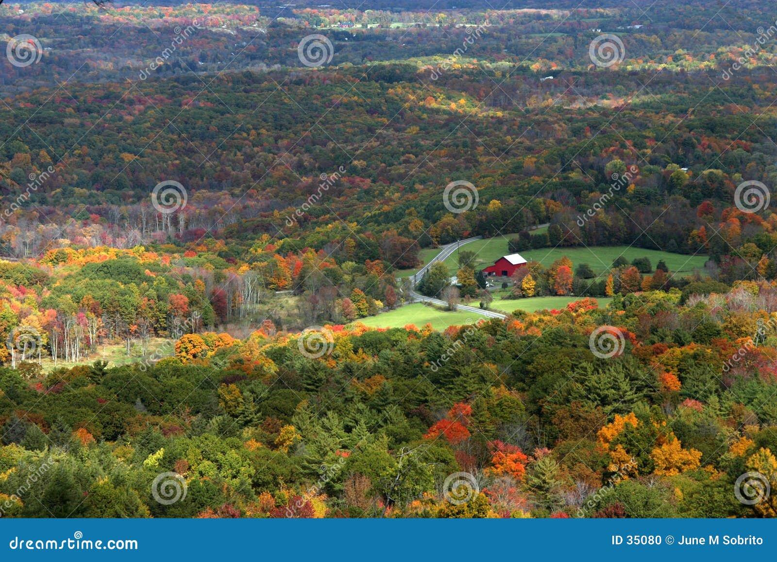 Download Granero rojo foto de archivo. Imagen de caída, colores, árbol - 35080
