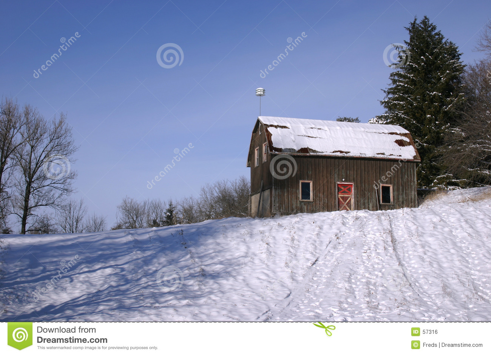 Granero y nieve