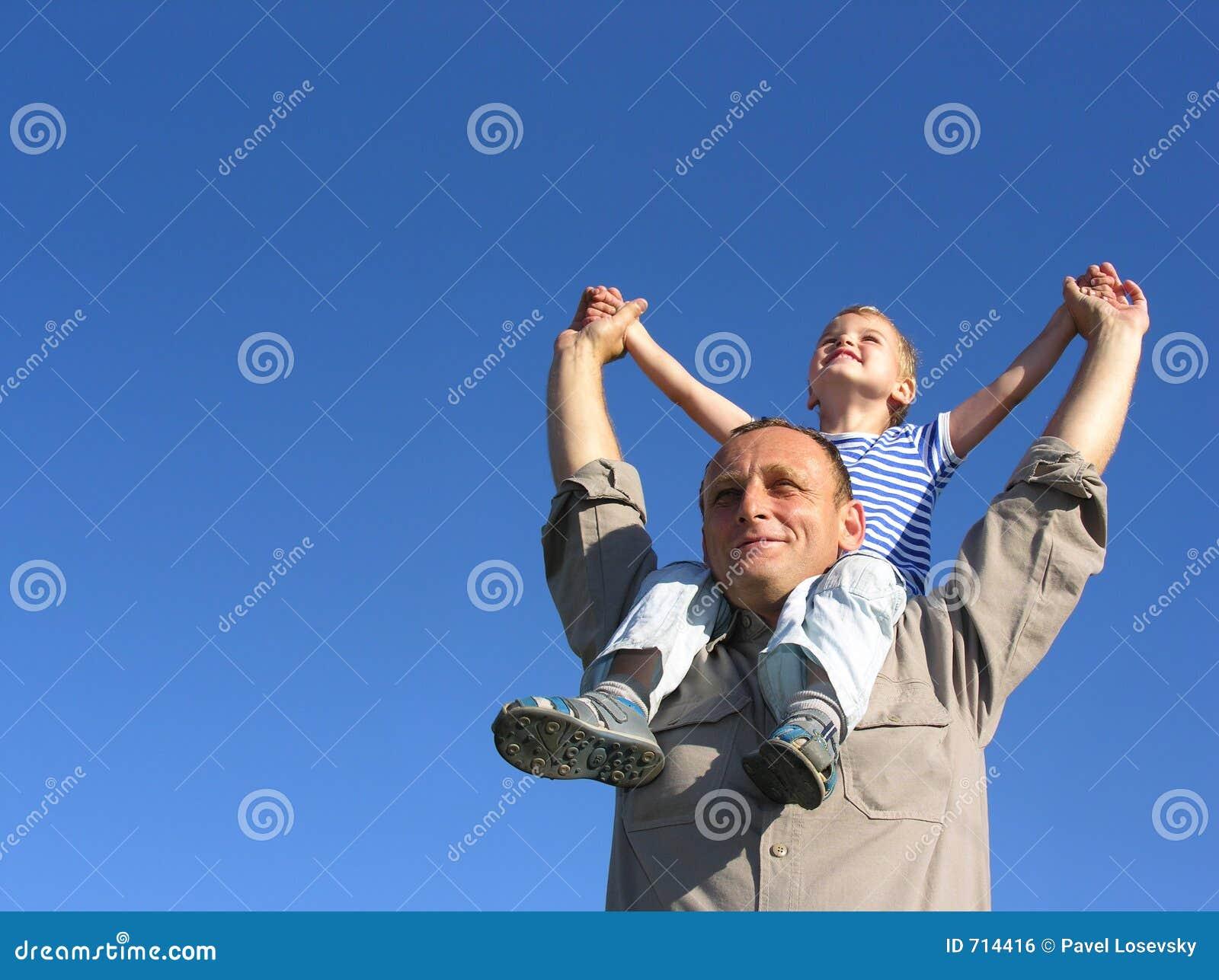 Granfather mit Enkel