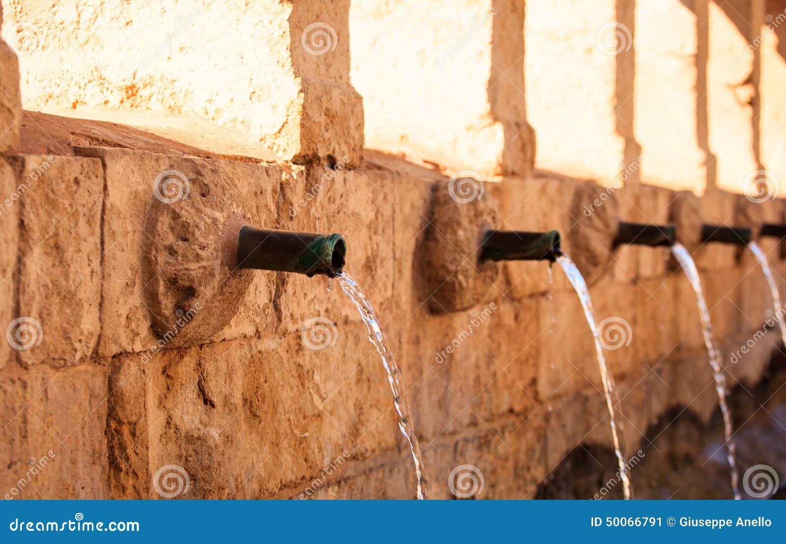 Granfonte, Barocker Brunnen In Leonforte Stockbild - Bild von ...