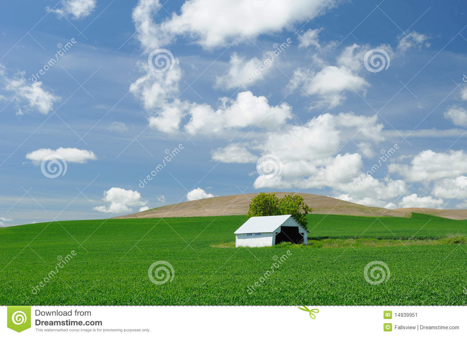 Grange dans le domaine de blé
