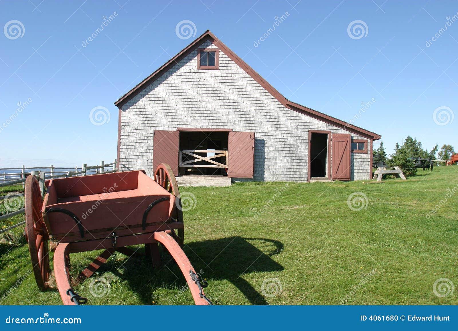 Grange et chariot