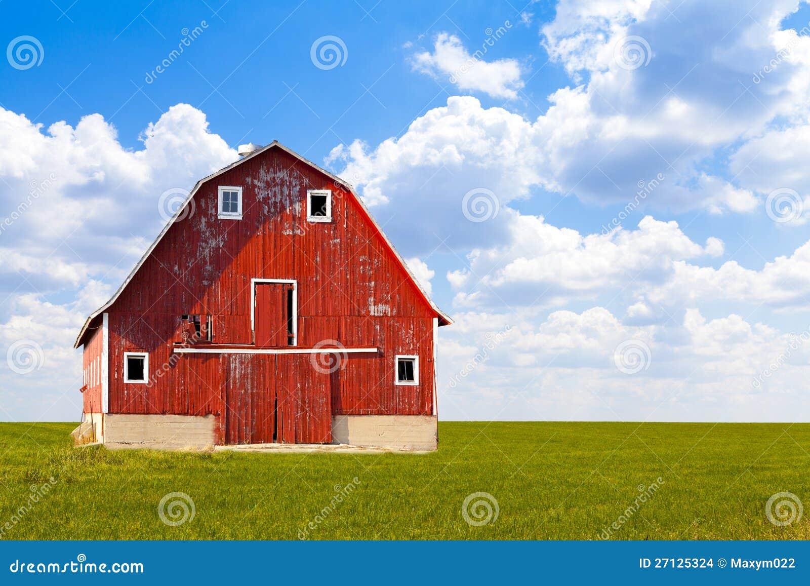 grange rouge am ricaine traditionnelle images stock image 27125324. Black Bedroom Furniture Sets. Home Design Ideas