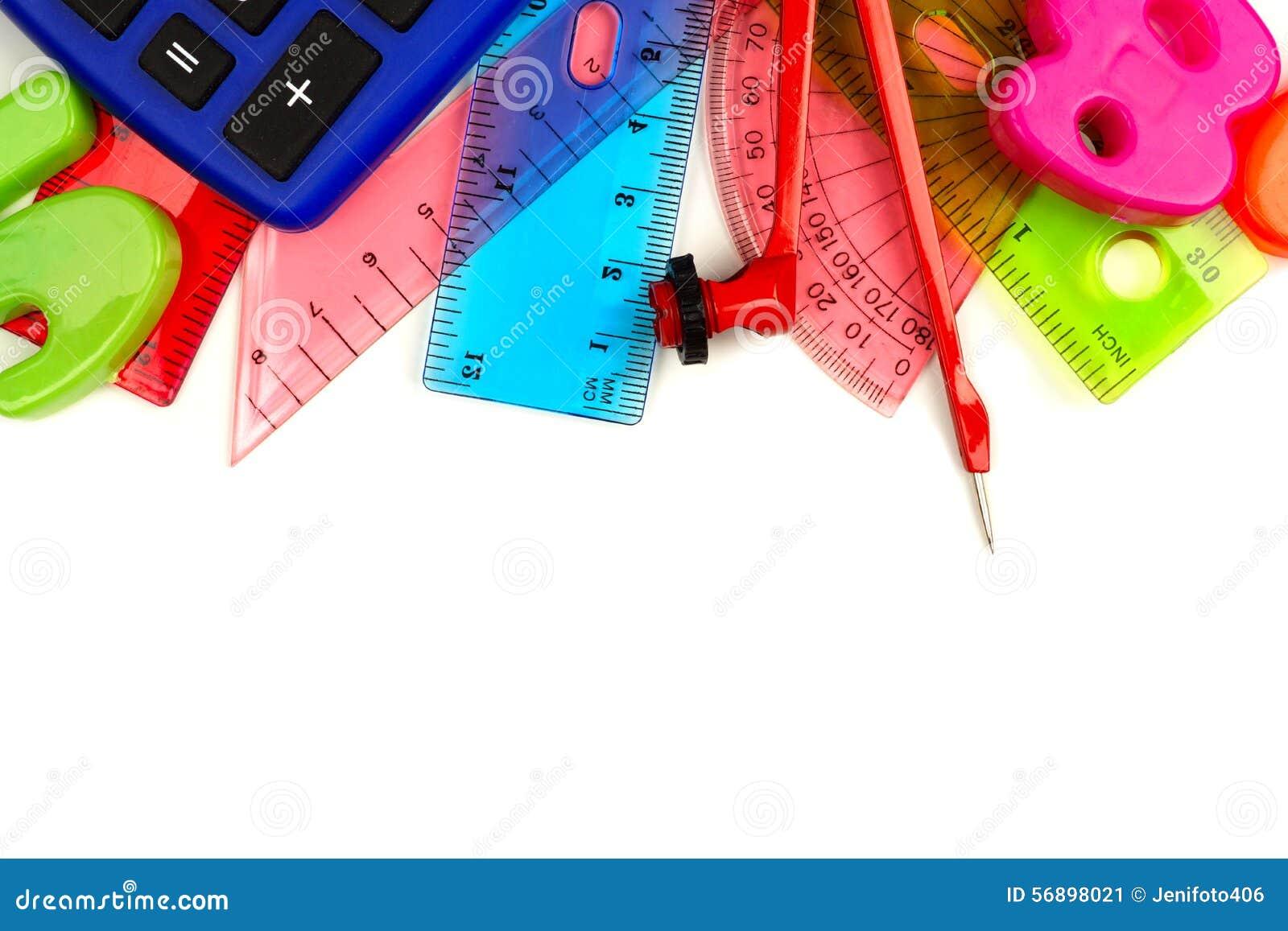 Granica kolorowej matematyki o temacie szkolne dostawy