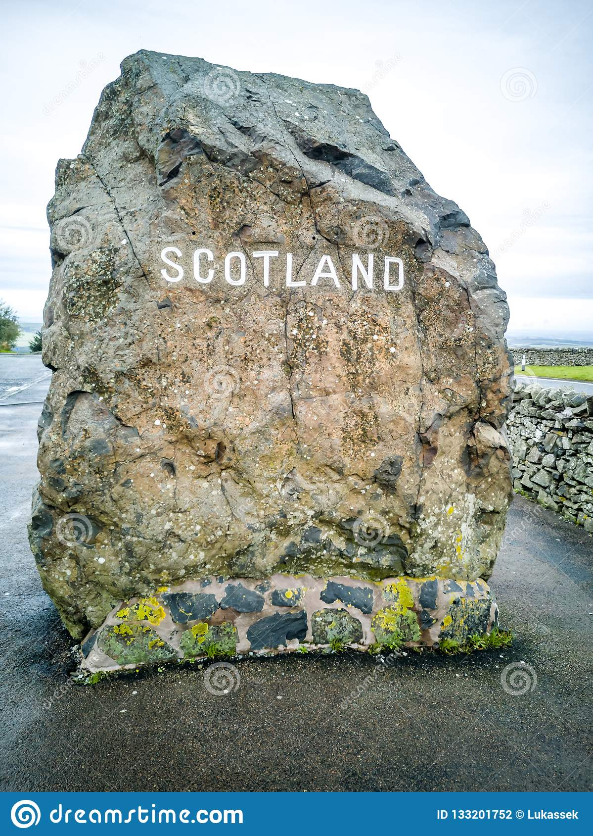 Granica między Anglia i Szkocja przy Carter barem - Zjednoczone Królestwo