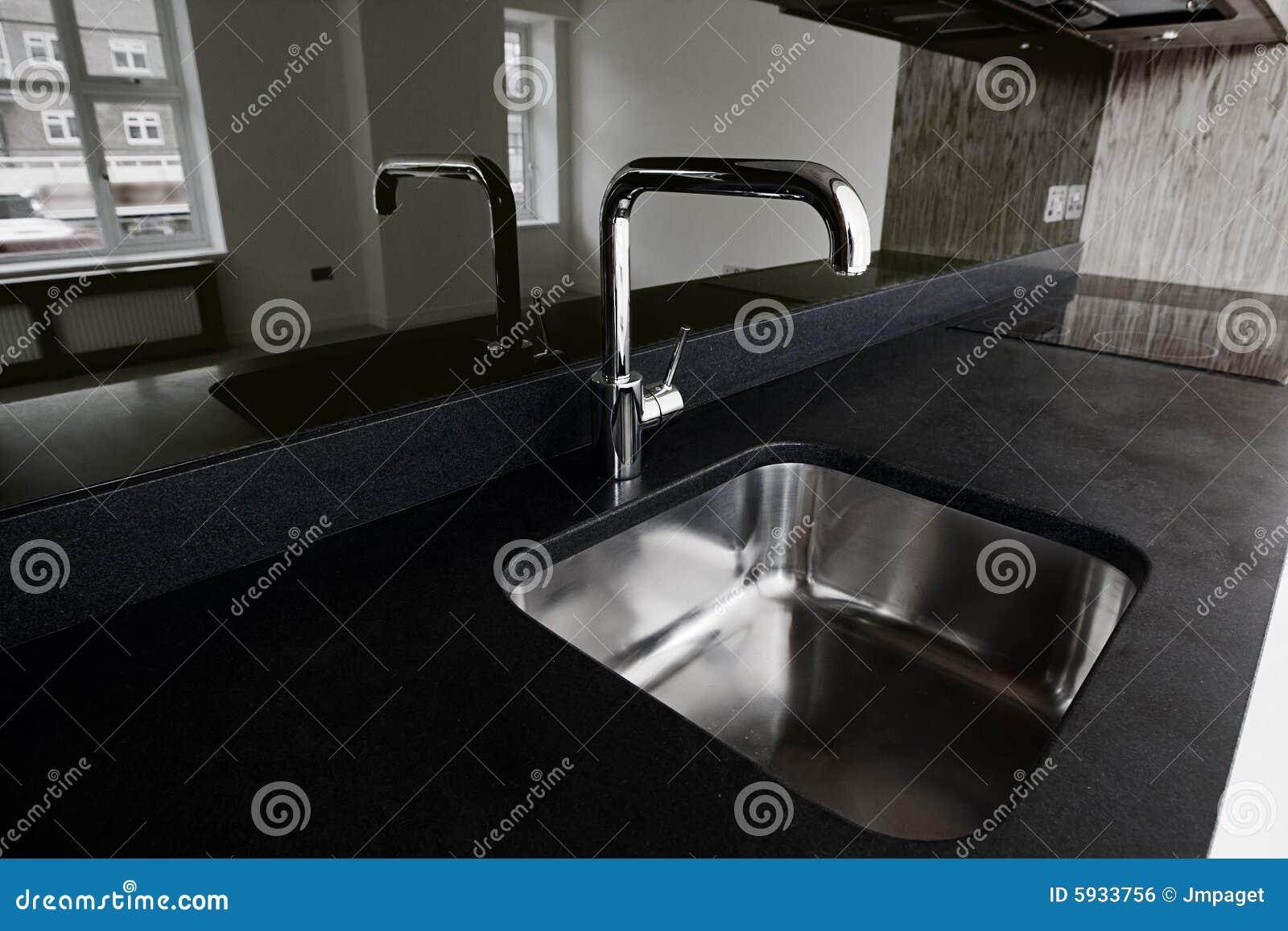 Graniet en gootsteen royalty vrije stock afbeelding afbeelding 5933756 - Keuken ontwikkeling in l ...
