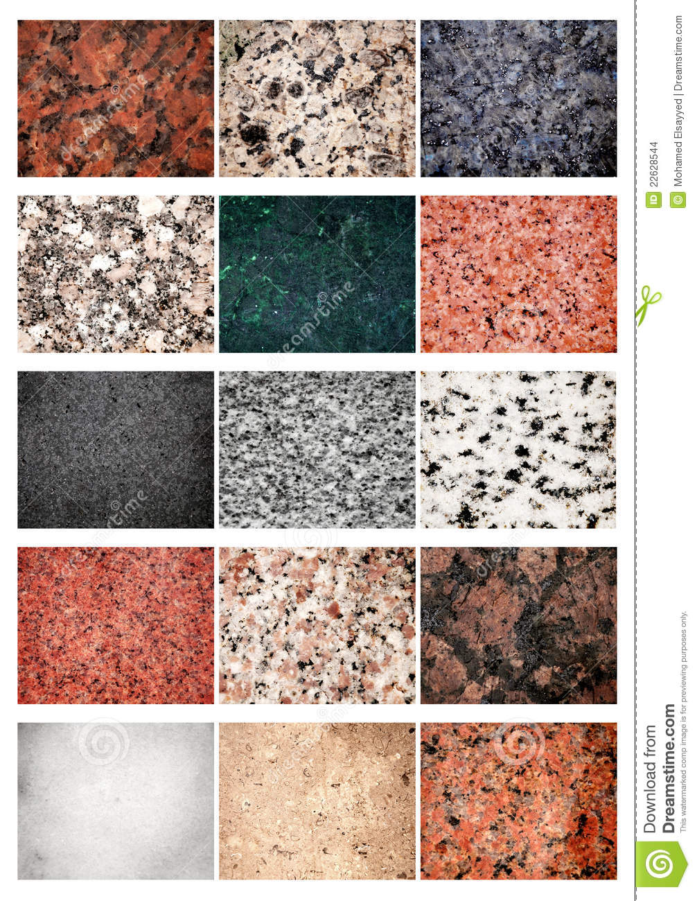 Granit et marbre de collage images stock image 22628544 for Tipos de marmoles y granitos