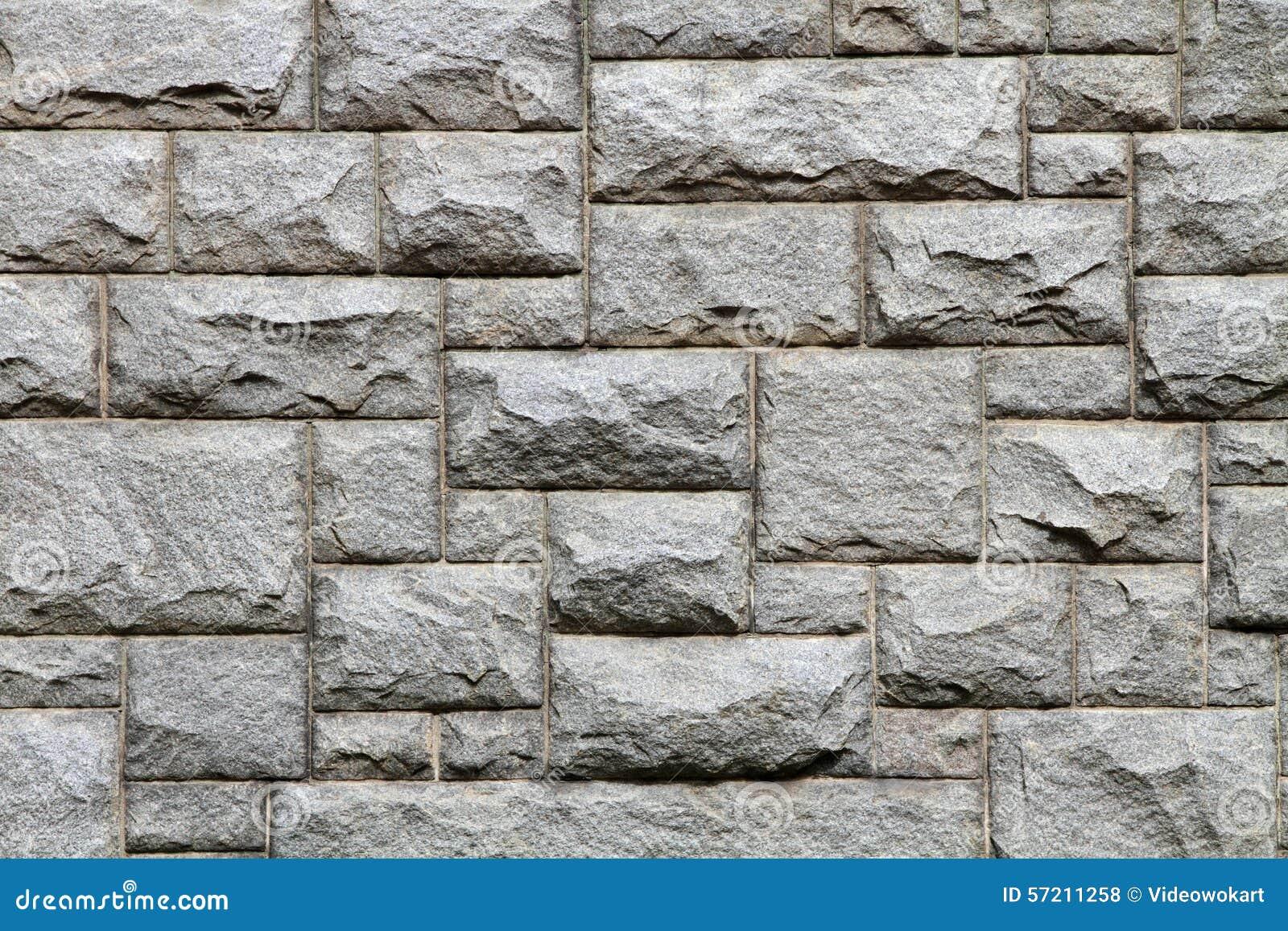 Granite Brick Wall Texture And Background Stock Photo