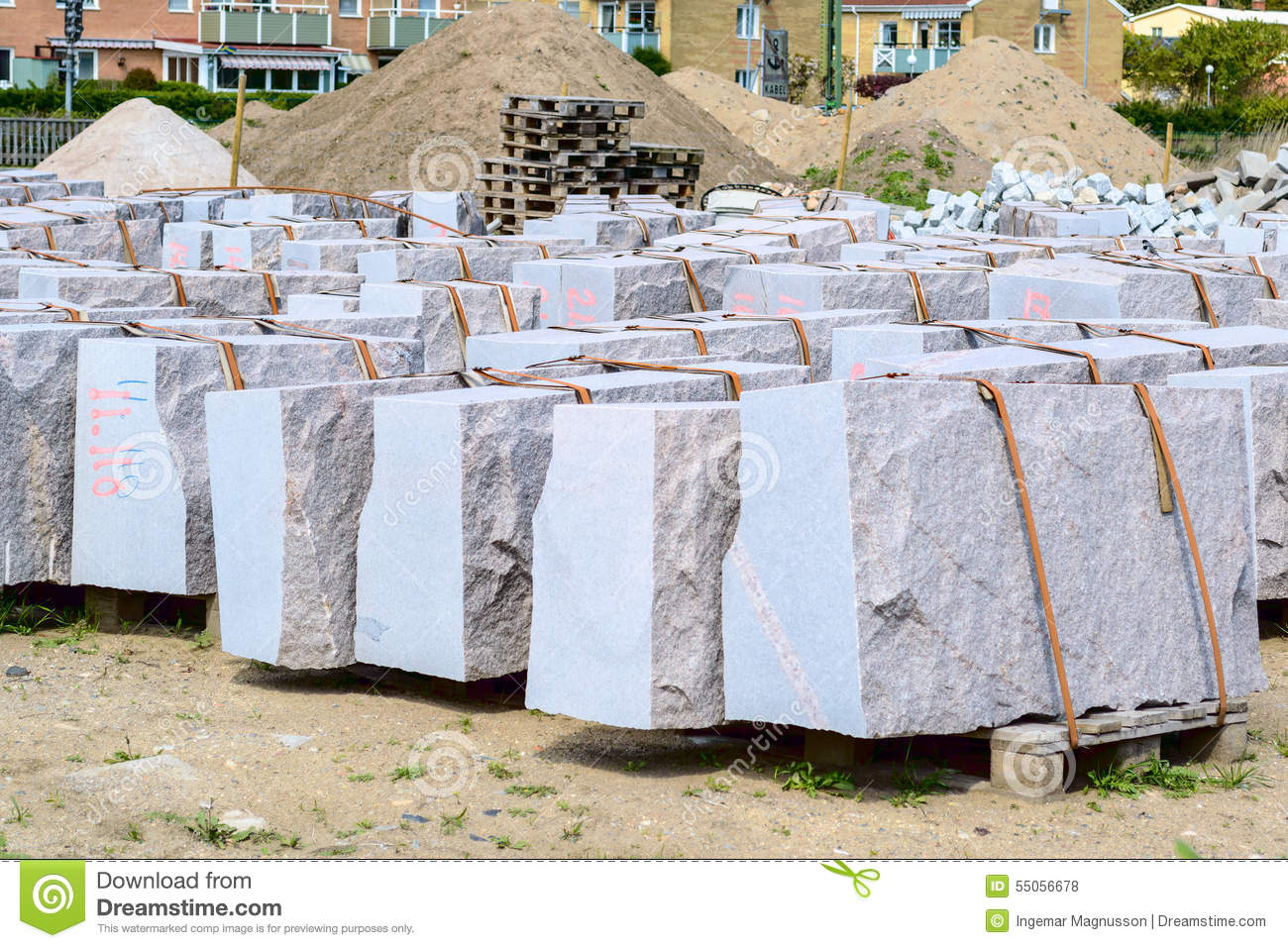 Granite Building Blocks : Granite building blocks stock photo image