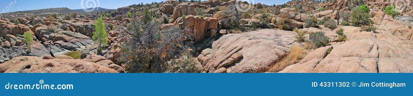 Granite Dells Landscape, Prescott, AZ Panorama