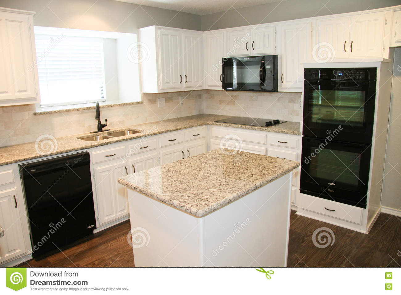 Kitchen Countertop And Poster Toned Royalty Free Stock