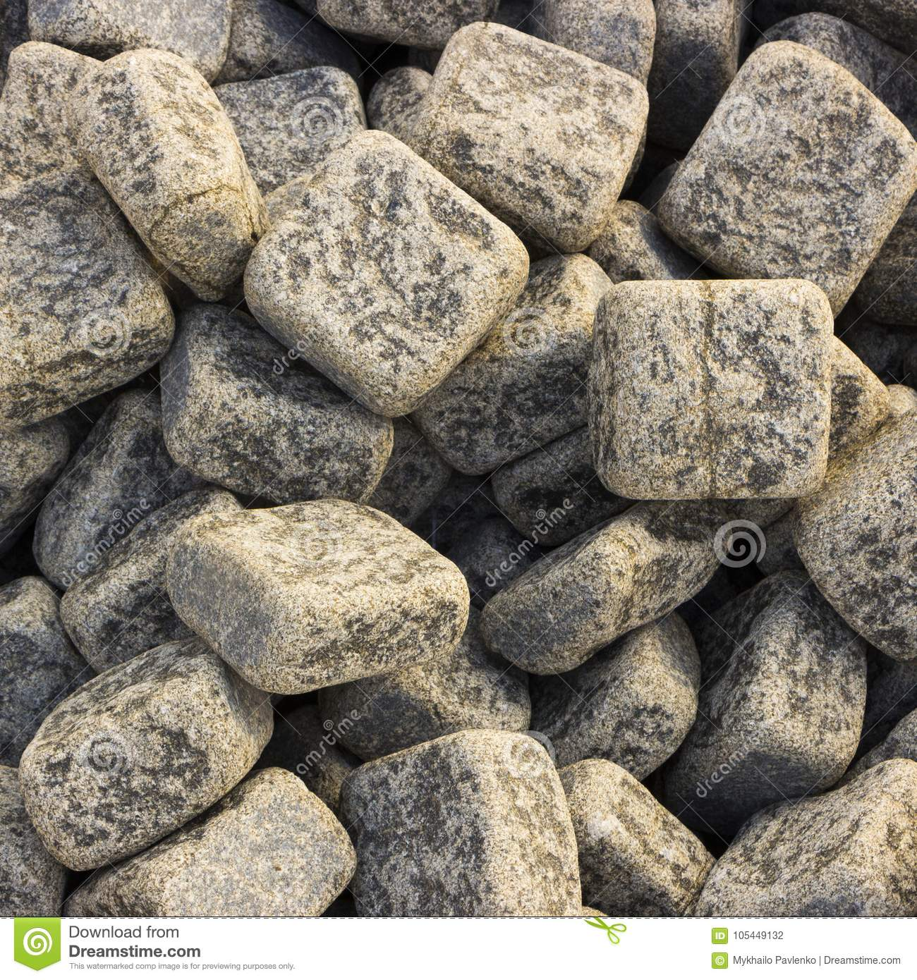 Granite Pebbles Texture, A Pattern For Use In Landscape