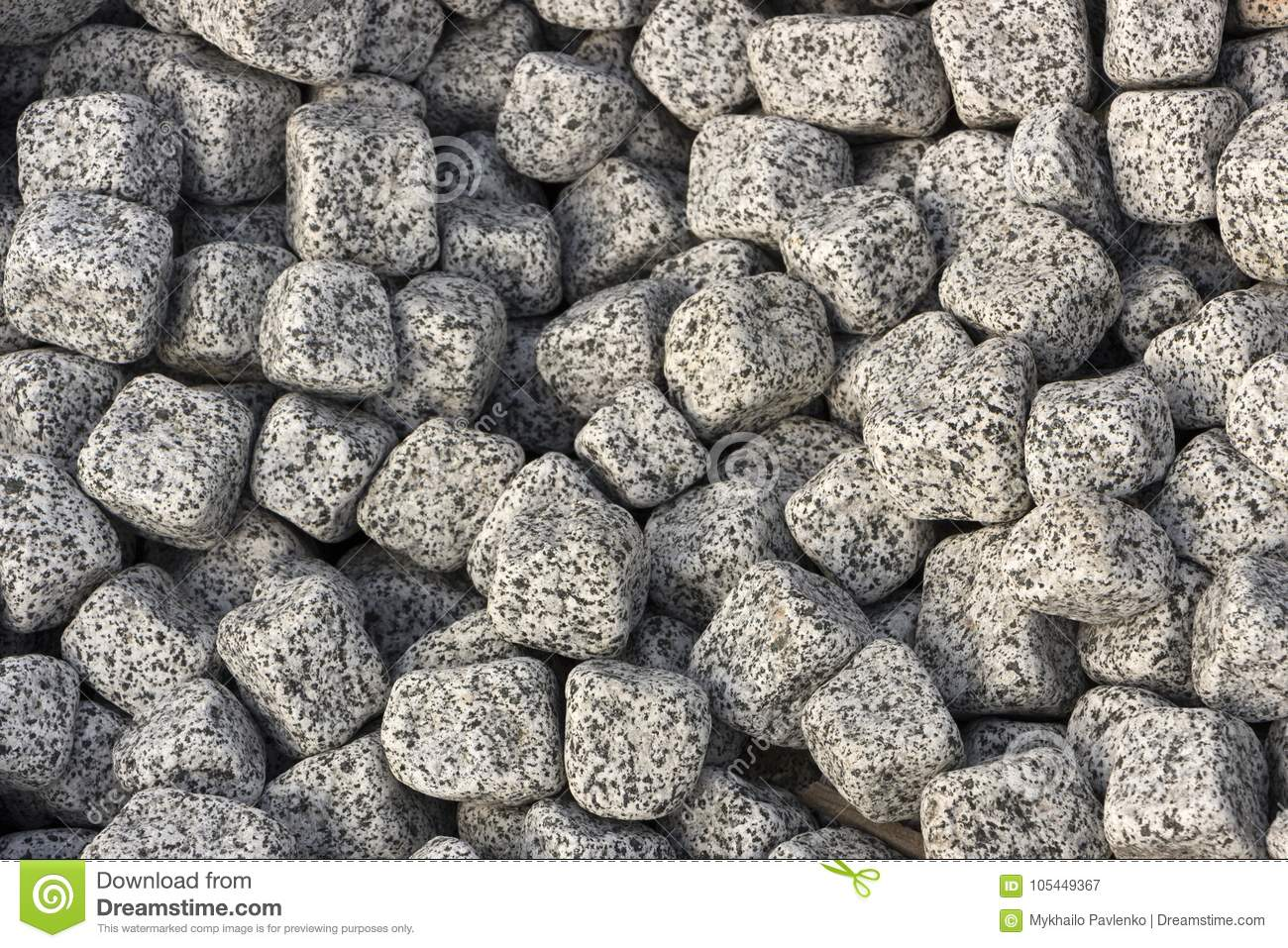 Granite Pebbles Texture A Pattern For Use In Landscape Design Stock