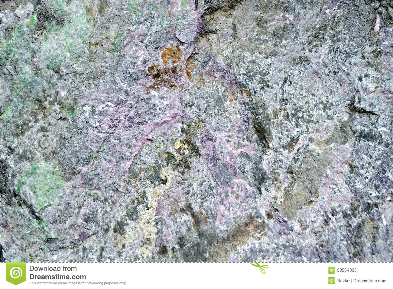 Pink To Gray Granite : Granite pink and green stock image of block effect