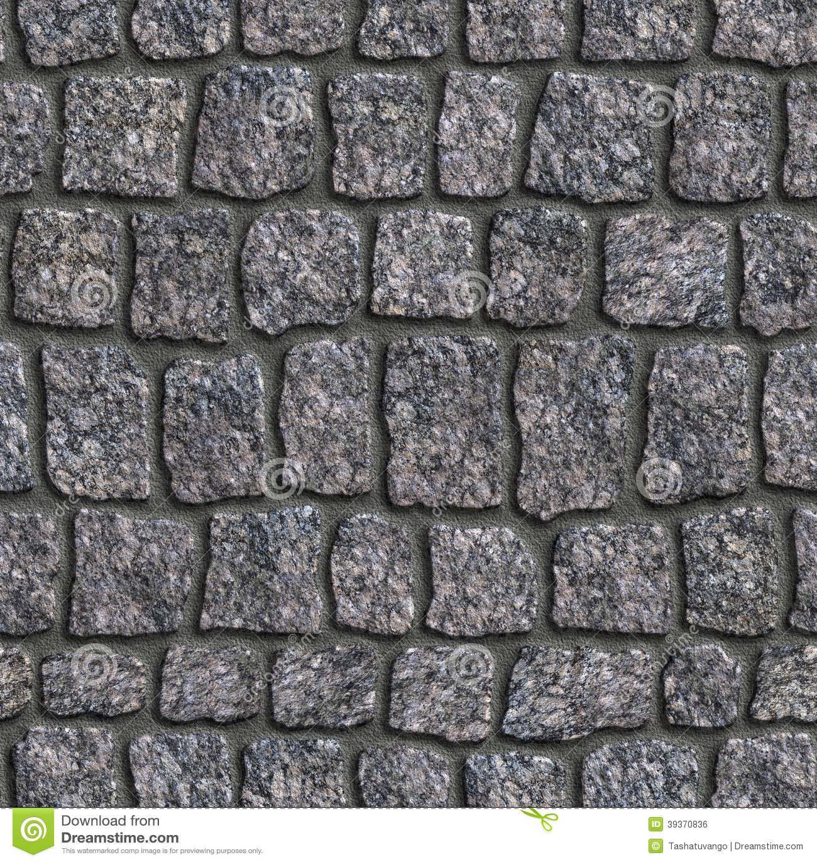 Granite Sett Seamless Tileable Texture Stock Photo Image Of Retro Paver 39370836