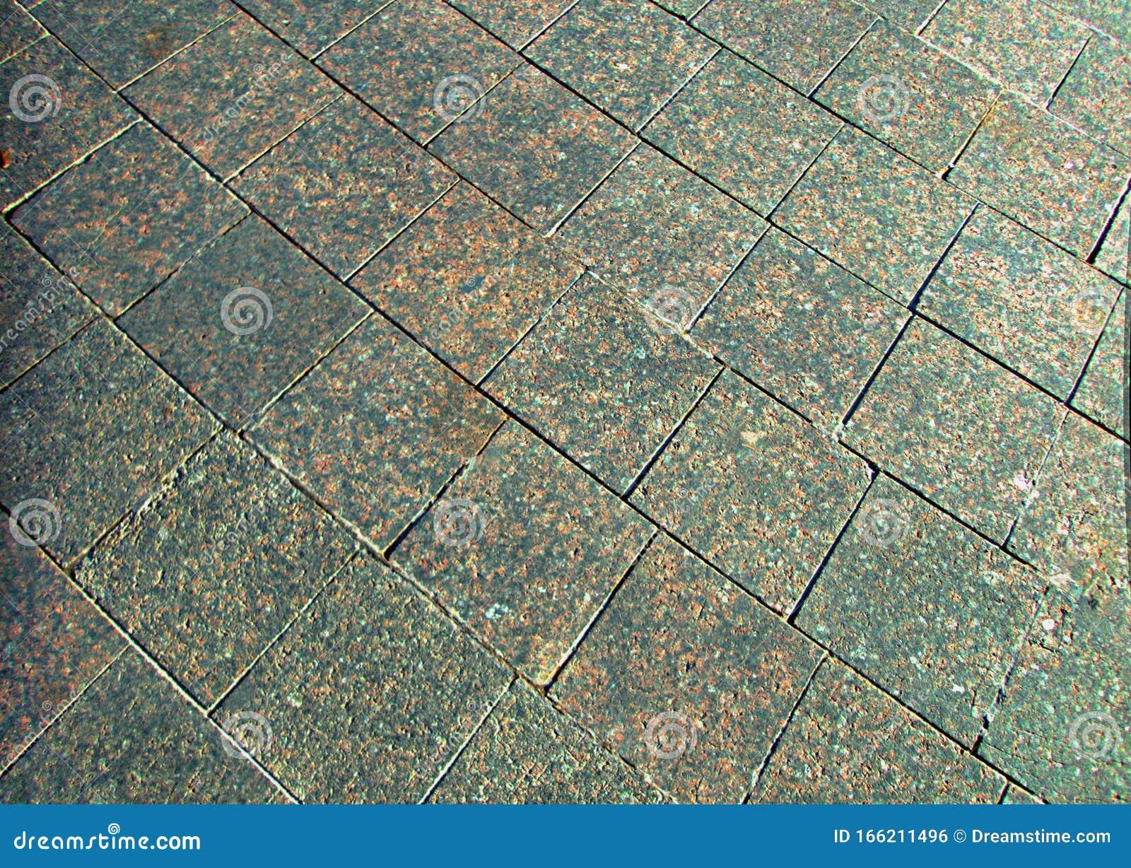 https www dreamstime com granite stone tiles new city park beautiful floor image166211496