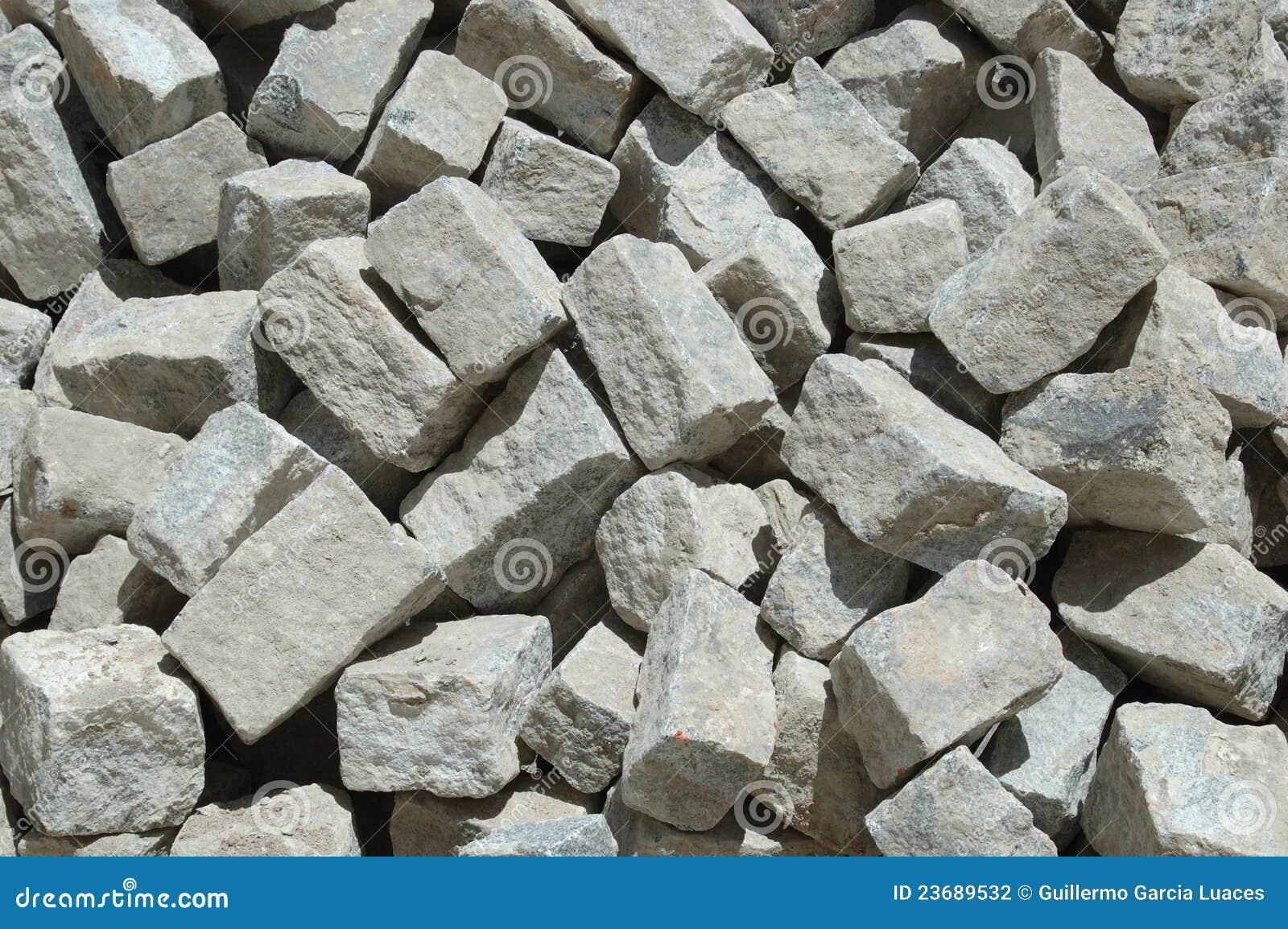 Granite stones for construction stock photo image of for Piedra de granito