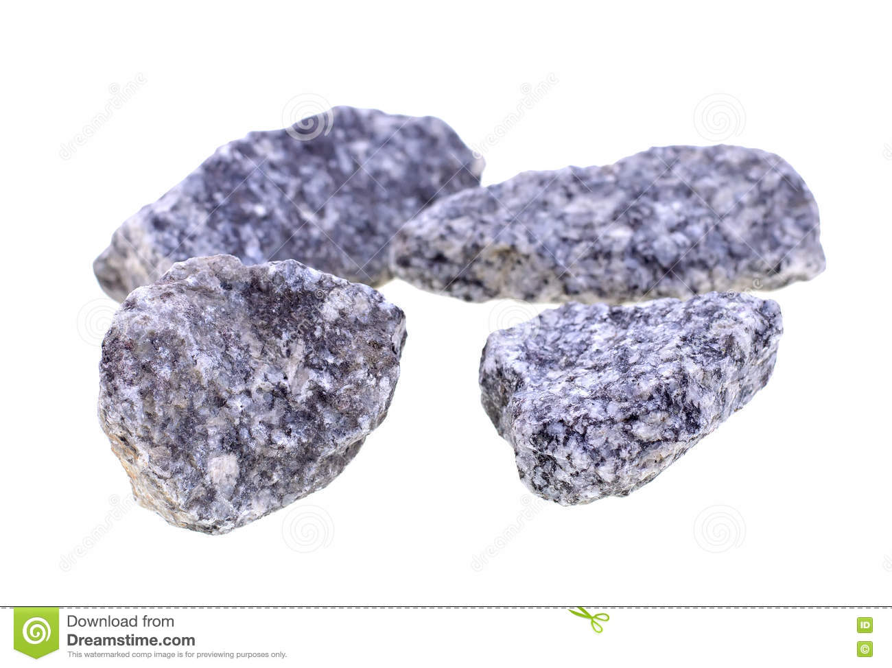 Granite Stones In Front Of A Single Stone Composition, Stock
