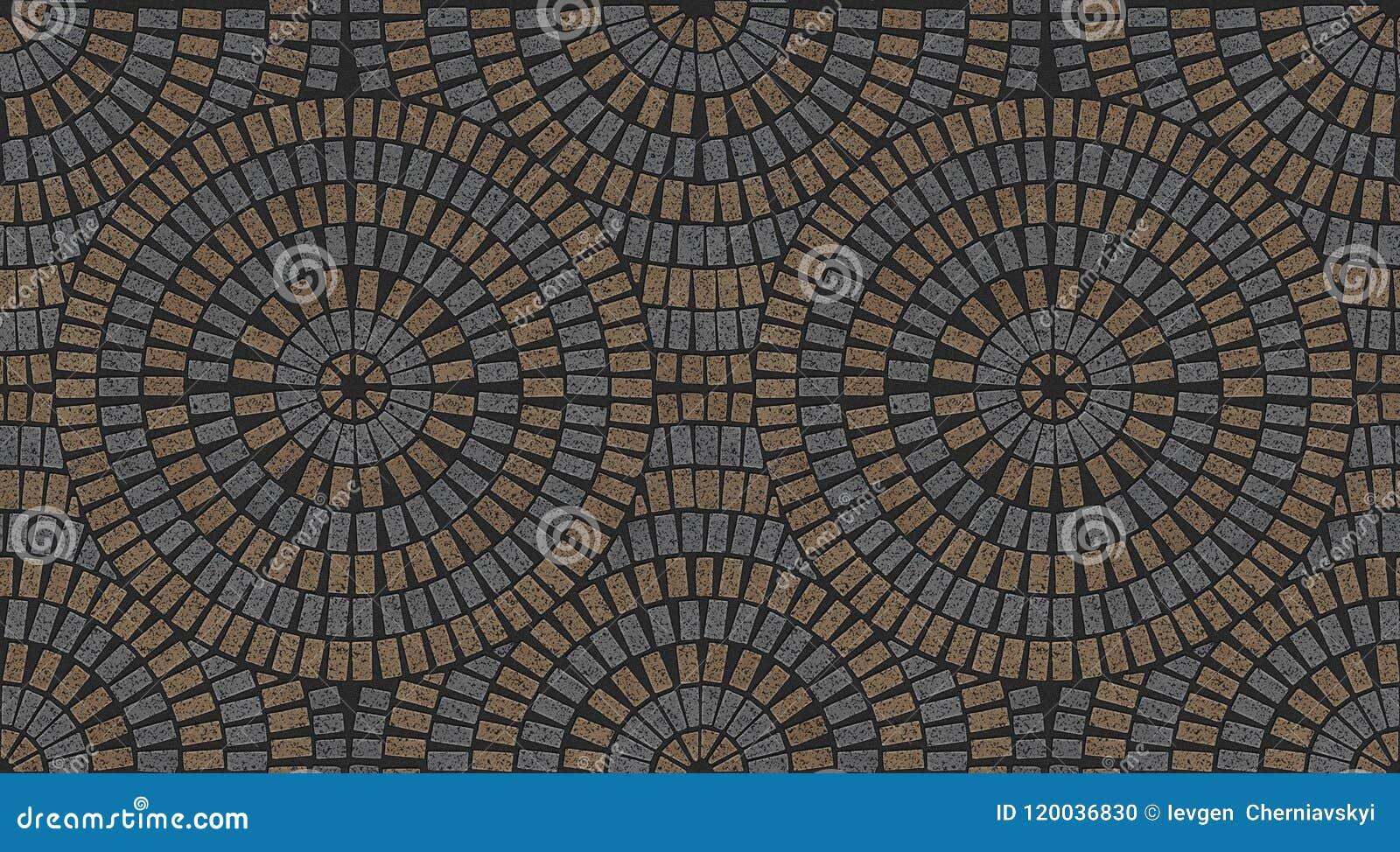 Granite Tile Paving Stones Seamless Texture Stock Illustration Illustration Of Ornate Granite 120036830