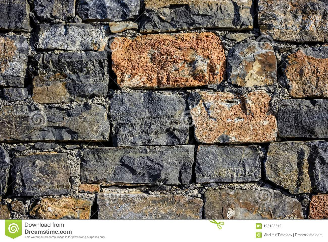 Granite wall texture ,seamless texture, masonry. day, multi-colored granite natural stone, pieces of stone, splinters,