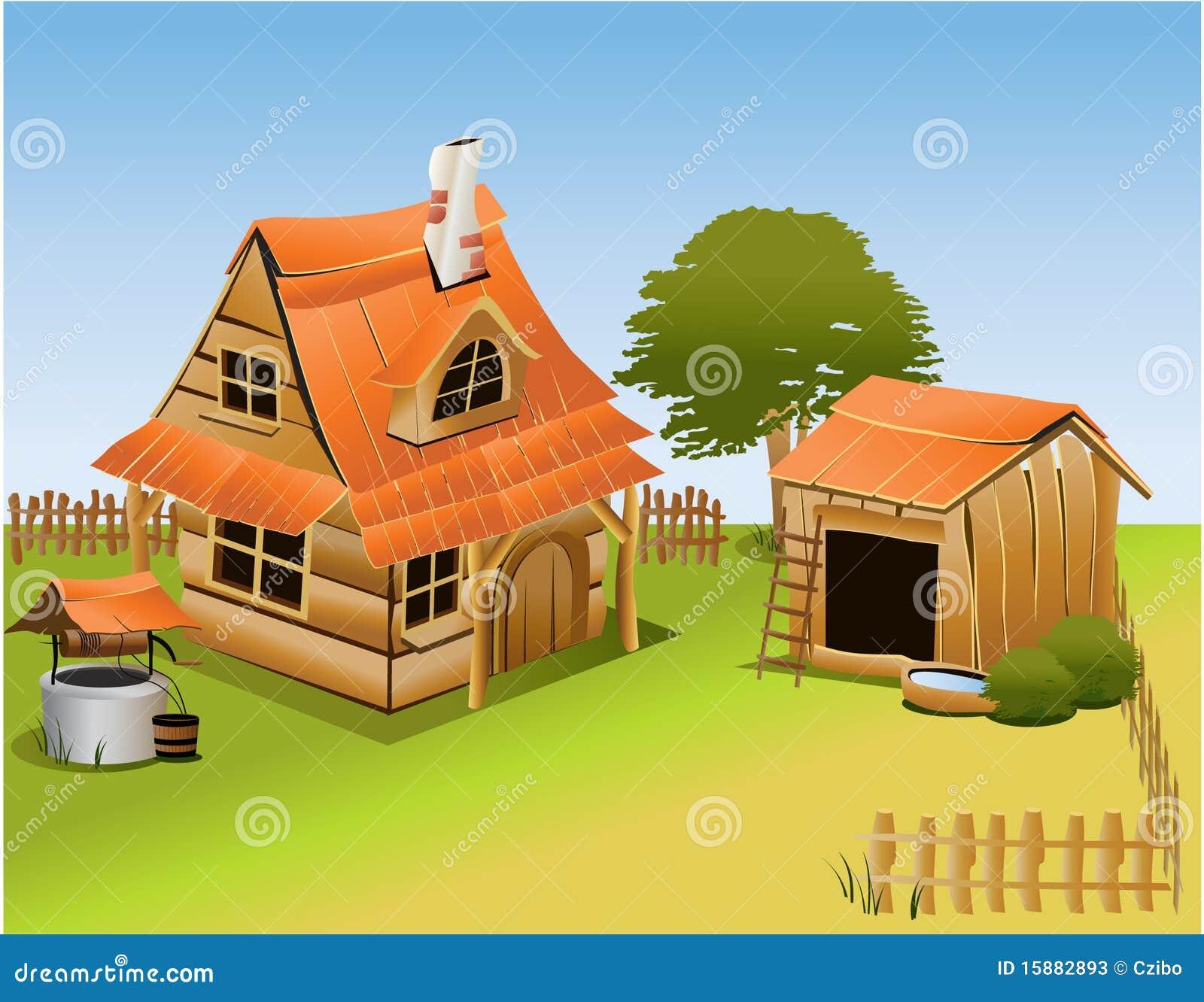 Granja de la historieta ilustraci n del vector ilustraci n de hierba 15882893 - Casa rural la granja ...