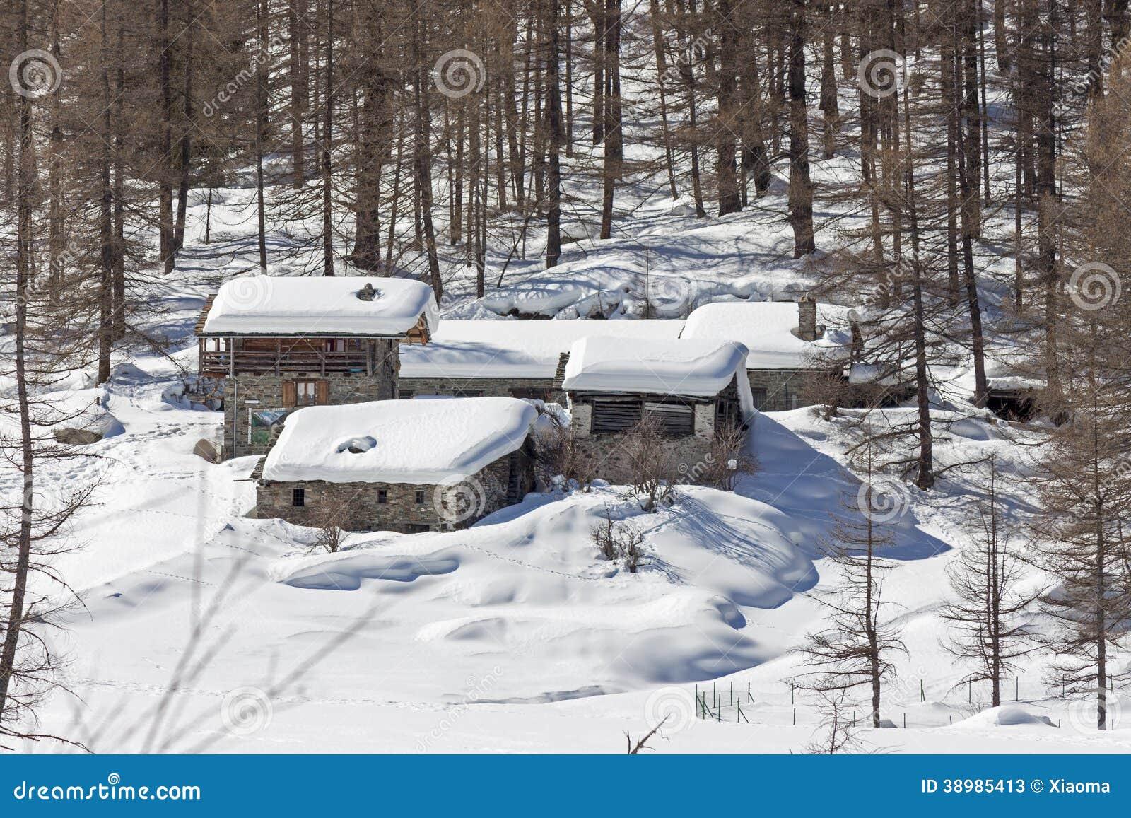 Granjas en la nieve