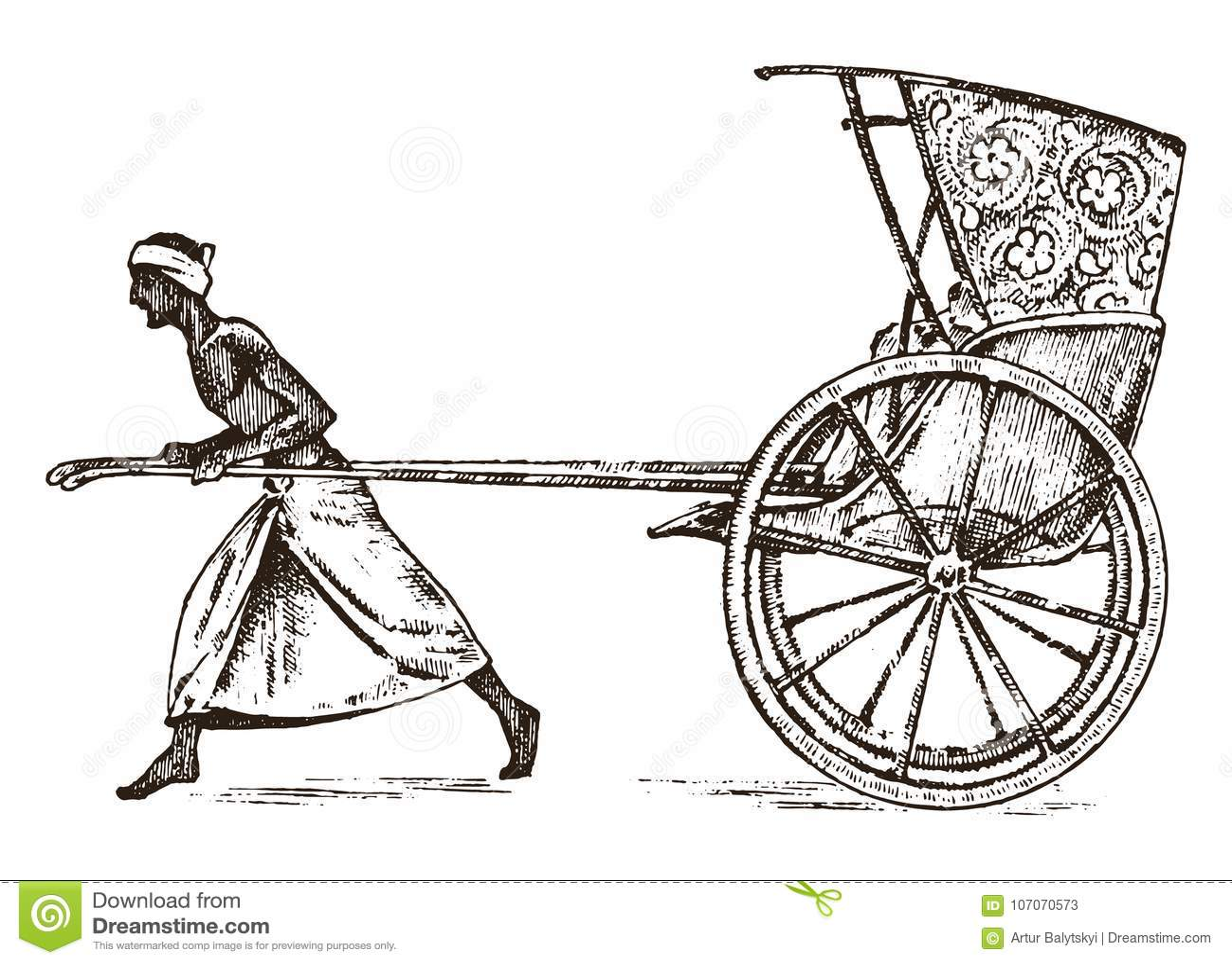 Granjero hindú con el carrito, trabajando con un carro