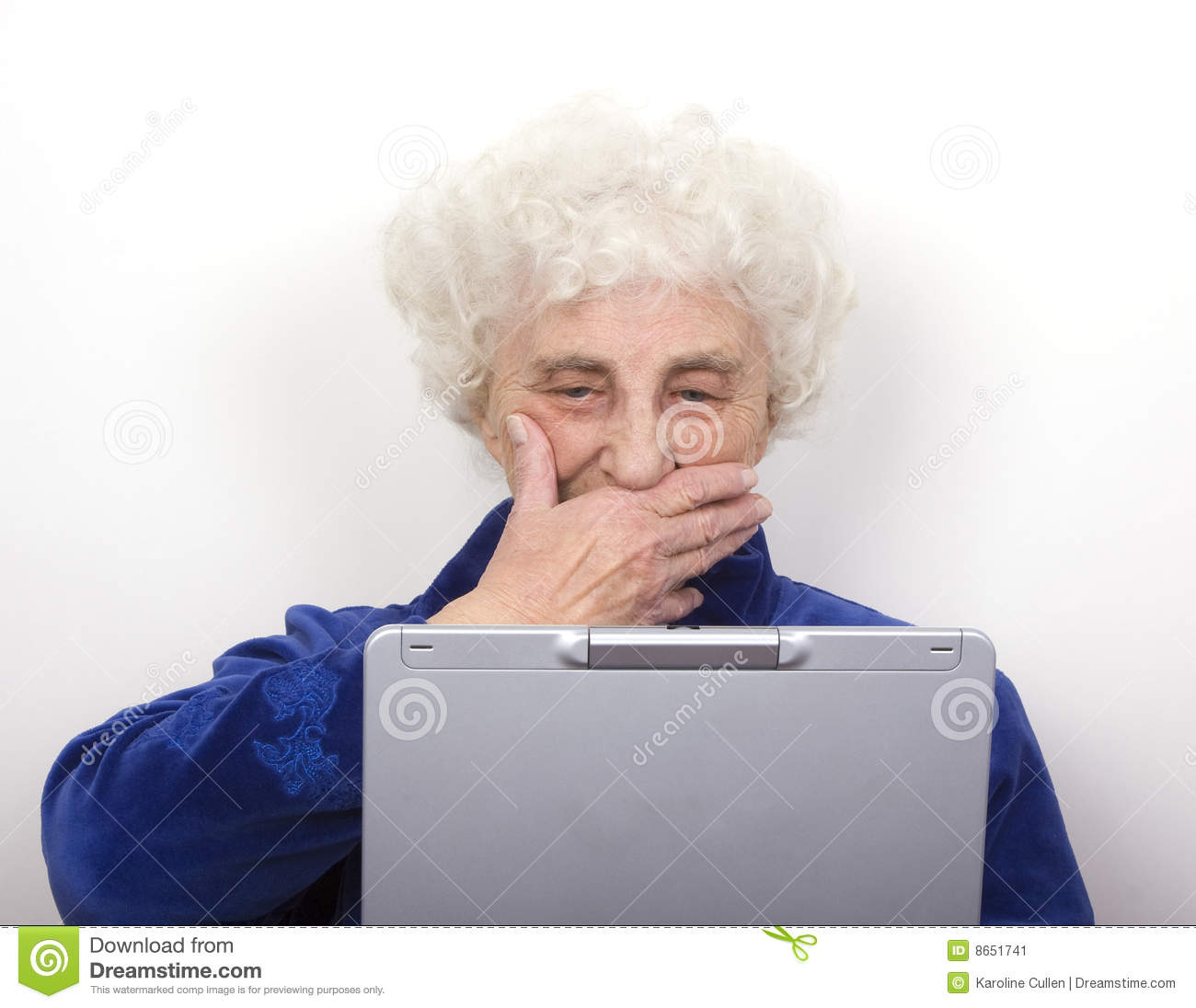 Granny Reads Bad News Stock Image Image 8651741