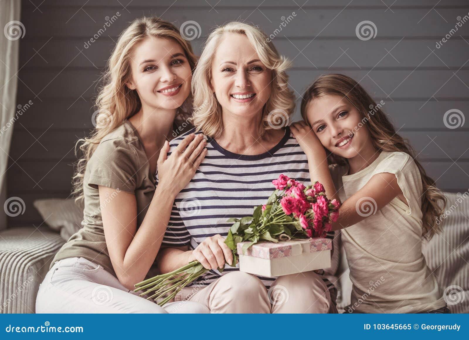 Grannys Holiday Greetings Stock Image Image Of Grandma 103645665